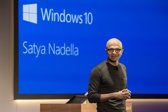 Windows 10 and Satya Nadella