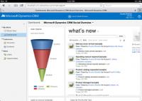 Dynamics CRM dashboard on the iPad